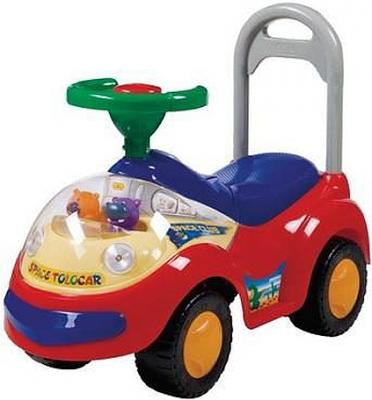 Каталка-машинка Shantou Gepai SP2108-B пластик от 3 лет на колесах разноцветный
