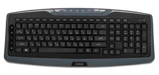 Клавиатура беспроводная Jet.A SlimLine K17 USB серый