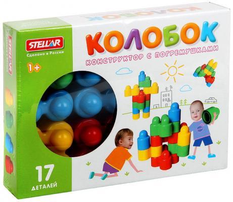 Купить Конструктор Стеллар Колобок 17 элементов 3003, СТЕЛЛАР, Мягкие конструкторы для детей
