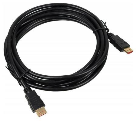 Кабель HDMI 3.0м Buro позолоченные контакты черный BHP HDMI V1.4 3M LOCK 375148