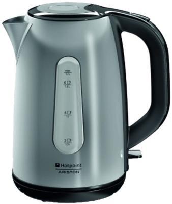 Чайник Ariston WK 22M DSL0 2200 Вт серебристый чёрный 1.7 л нержавеющая сталь чайник kitchenaid kten20sbob чёрный 1 9 л нержавеющая сталь