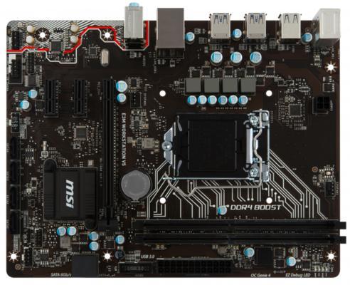 Мат. плата для ПК MSI E3M Workstation V5 Socket 1151 C232 2xDDR4 1xPCI-E 16x 2xPCI-E 1x 6xSATAIII mATX