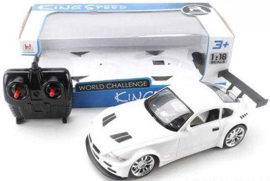Машинка на радиоуправлении Shantou Gepai 8004 пластик от 4 лет белый 6927713124752