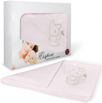 Комплект постельного белья в коляску 5 предметов Esspero Lui (зайка/pink)