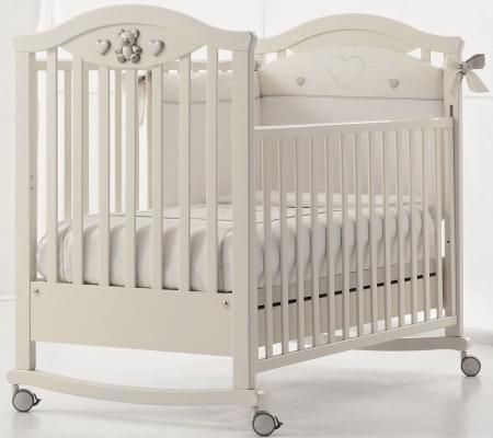Кроватка-качалка Erbesi Amour (белый)