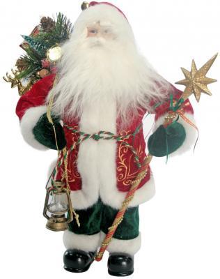 Дед Мороз Winter Wings N05203 40 см 1 шт текстиль, пластик, искусственный мех