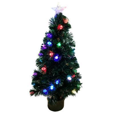 Купить Ель Winter Wings N04125 зеленый 90 см световод с разноцветными супер-яркими шишками, 42 LED шишк, 100 веток, Искусственные ели и сосны