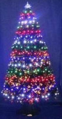 Купить Ель Winter Wings N04127 зеленый 90 см световод с разноцветными супер-яркими лампами, 100 ламп LED, 100 веток, , Искусственные ели и сосны