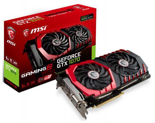 Видеокарта 8192Mb MSI GeForce GTX 1070 GAMING Z 8G PCI-E 256bit GDDR5 DVI HDMI DP HDCP Retail