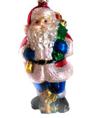 Дед Мороз Winter Wings ДЕД МОРОЗ С ПОДАРКОМ 12 см 1 шт стекло N07339, разноцветный, Елочные украшения  - купить со скидкой