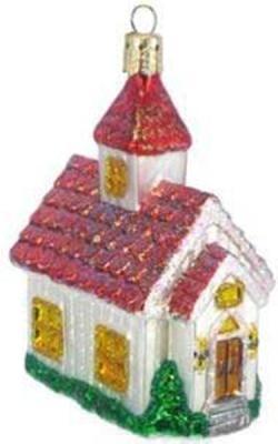 Елочные украшения Winter Wings ДОМИК разноцветный 9 см 1 шт стекло N07229 елочные украшения русские подарки игрушка ёлочная домик