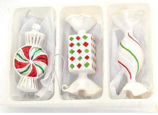 Елочные украшения Winter Wings КОНФЕТКИ разноцветный 10 см 3 шт стекло N07838 костюм снегурочки конфетки 40 44