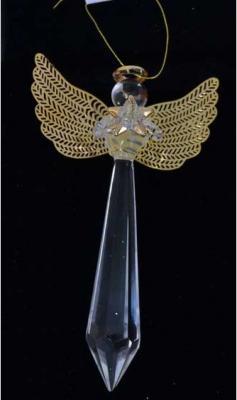 Елочные украшения Winter Wings Ангел прозрачный 11 см 2 шт стекло N07730 елочные украшения winter wings волшебная рыбка 12 см 1 шт прозрачный стекло n07524