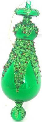 Елочные украшения Winter Wings ПОДВЕСКА зеленый 16 см 2 шт стекло N07267 подвеска silver wings цвет белый