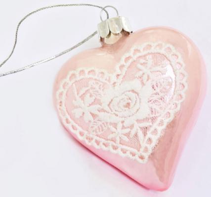 Елочные украшения Winter Wings СЕРДЦЕ розовый 7 см 2 шт стекло 079017 блуза mango блуза