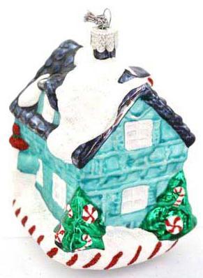 Елочные украшения Winter Wings Домик бирюзовый 9 см 1 шт стекло N07822 елочные украшения русские подарки игрушка ёлочная домик