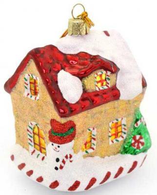 Елочные украшения Winter Wings Дом карамельный 9.5 см 1 шт стекло N07821