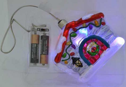 Елочные украшения Winter Wings Домик с LED 10 см 1 шт стекло N07725 елочные украшения русские подарки игрушка ёлочная домик