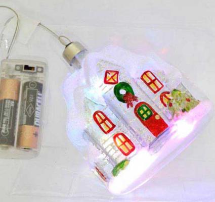 Елочные украшения Winter Wings Домик с LED 11 см 1 шт стекло N07723 украшения zuza