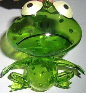 Украшение Winter Wings ЛЯГУШОНОК зеленый 10 см 1 шт стекло N07526 георгиев с маленький зеленый лягушонок