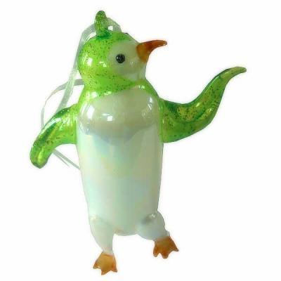 Украшение Winter Wings ПИНГВИН разноцветный 13 см 1 шт стекло N07512 рождественские rhinestone симпатичные пингвин брошь pin подарка xmas украшение партии