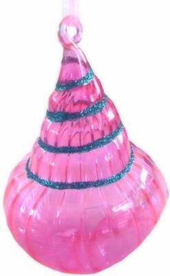 Елочные украшения Winter Wings РАКУШКА розовый 10 см 1 шт стекло N07520 елочные украшения winter wings цветок эльф 19 см 1 шт розовый