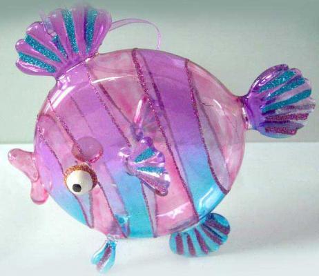 Украшение Winter Wings Рыбка разноцветный 15 см 1 шт стекло 07527