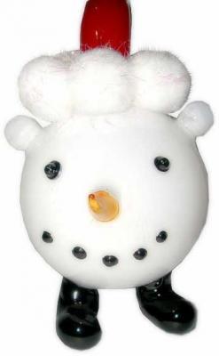Елочные украшения Winter Wings Снеговичок белый 16 см 1 шт стекло N07507 украшения zuza