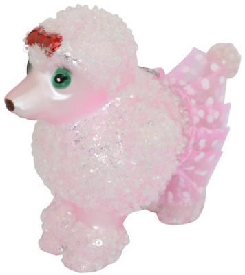 Елочные украшения Winter Wings Собачка розовый 6*9 см 1 шт стекло N079065 украшения