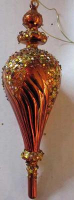 Елочные украшения Winter Wings Подвеска коричневый 7*22 см 1 шт стекло N07269 цены онлайн