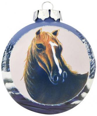 Елочные украшения Winter Wings Шар Лошадь 8 см 1 шт стекло N079071 игровые фигурки breyer лошадь альборозо символ breyerfesta 2008 года