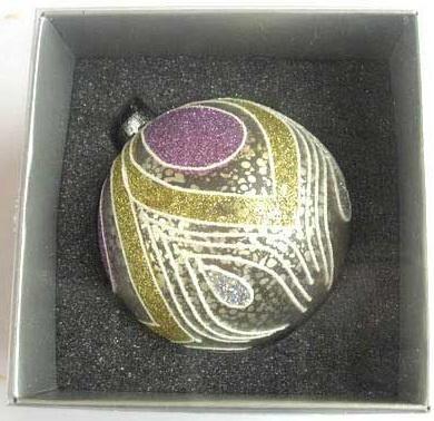 Купить Украшение Winter Wings шар ПАВЛИН серебро 8 см 1 шт стекло N07653, Елочные украшения