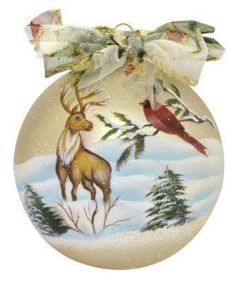 Елочные украшения Winter Wings ШАР разноцветный 8 см 1 шт стекло N07930 елочные украшения winter wings шар цветы разноцветный 7 5 см 1 шт стекло n079086