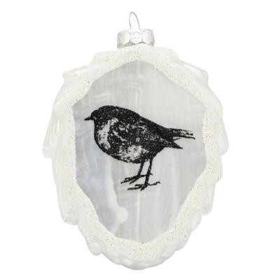 Украшение Winter Wings ШИШКА белый 9 см 1 шт стекло N07982 monte christmas сувенир шишка 6 см 4 шт