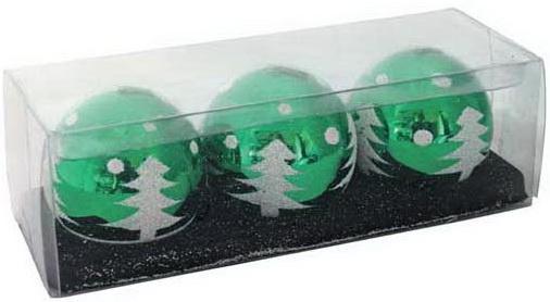 набор свечей lefard 348 305 серебристый высота 27 см 3 шт Набор свечей Winter Wings Шар с елкой 5 см 3 шт