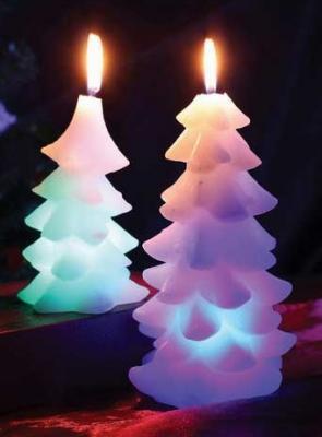 Свеча Winter Wings Елочка, светящаяся 16 см N161413 свеча вязанная елочка