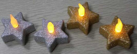Набор свечей Winter Wings Свечи с блестящей крошкой 2 шт N161725 набор свечей winter wings сувенирные свечи 6 шт 4 см n161419