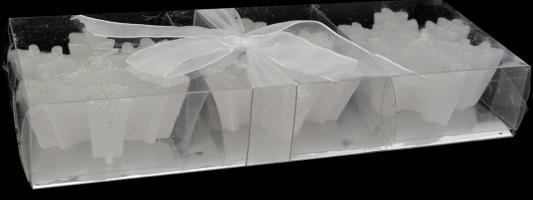набор свечей lefard 348 305 серебристый высота 27 см 3 шт Набор свечей Winter Wings Снежинки 7 см 3 шт