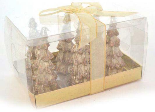 Набор свечей Winter Wings Елочка с блестящей крошкой 3х8.5 см 6 шт