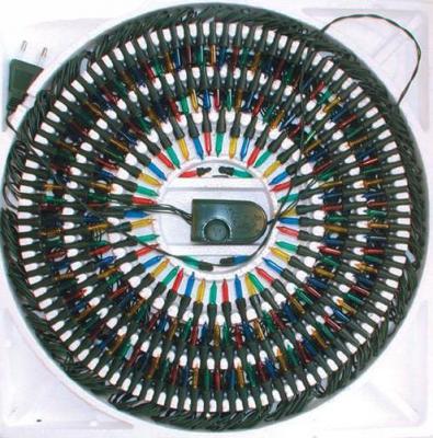 Гирлянда электрическая, 140 ламп, прозрачная, цветная, бегущие огни, с контроллером, 8,2 + 1,5 м