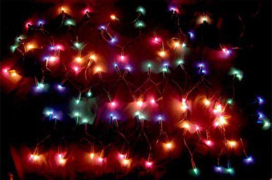 Гирлянда электрическая, 100 ламп, разноцветные, 7м