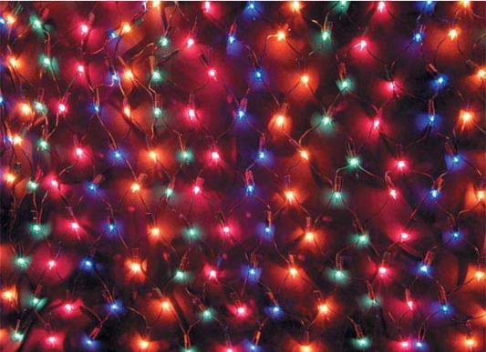 Гирлянда электрическая сетка, 200 ламп, разноцветные, 3,8 м, 10 рядов по 20 ламп N11025