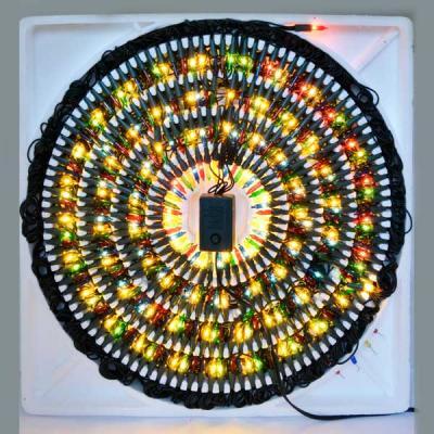 Гирлянда электрическая ромашка, 300 ламп, прозрачная, цветная, с контроллером, 3,1 + 1,5 м