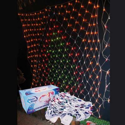 Гирлянда электрическая сетка ЕЛКА, 1,4 x 1,6 м, 276 ламп, цветная, с контроллером N11249