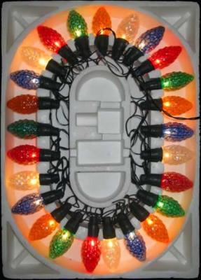 Гирлянда электрическая шишка-ромашка, 25 ламп, прозрачная, цветная, с контроллером, 2,8 + 1,5 м 11258