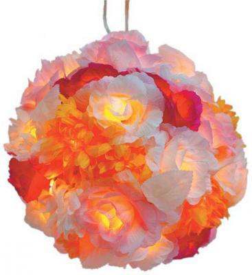 Гирлянда электрическая шар-цветы, 40 ламп, провод 1,5 м, разноцветный