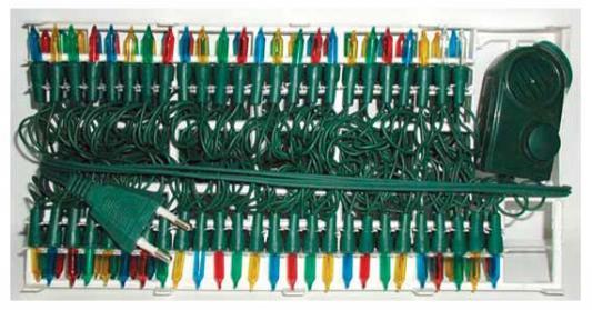 Гирлянда электрическая, 100 ламп, прозрачная, цветная, музыкальная, 3 мелодии, с контр, 5.35+1.5 м N11010