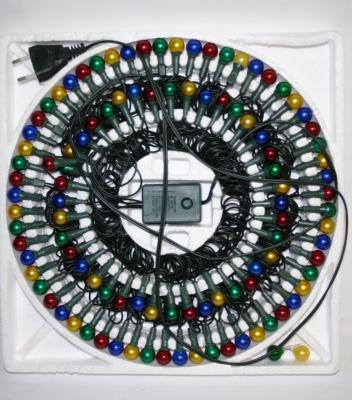 Гирлянда электрическая ромашка, 100 ламп, прозрачная, цветная, с контроллером, 6 + 1,5 м