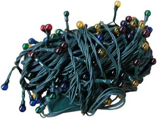 Гирлянда электрическая ромашка, 12 + 1,5 м, 200 ламп, прозрачная, цветная, с контроллером