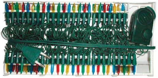 Гирлянда электрическая, 200 ламп, прозрачная, цветная, музыкальная, 3 мелодии, с контр, 10,5 + 1,5 м N11060